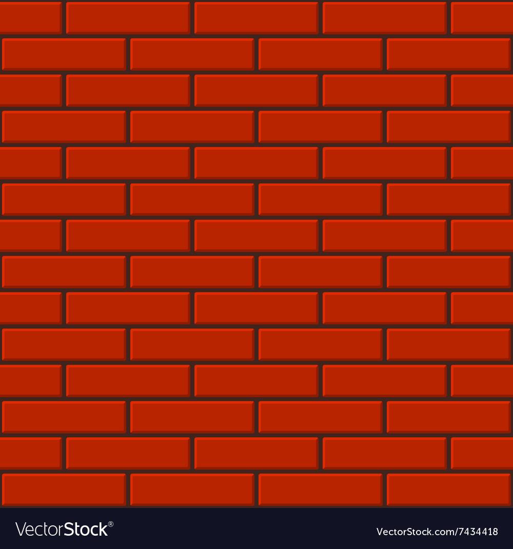Seamless Tiled Red Brick Wall Royalty Free Vector Image