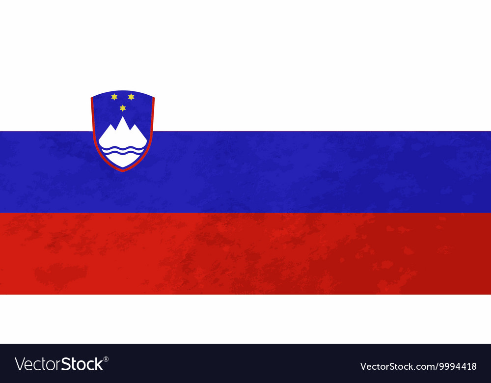 True proportions Slovenia flag with texture