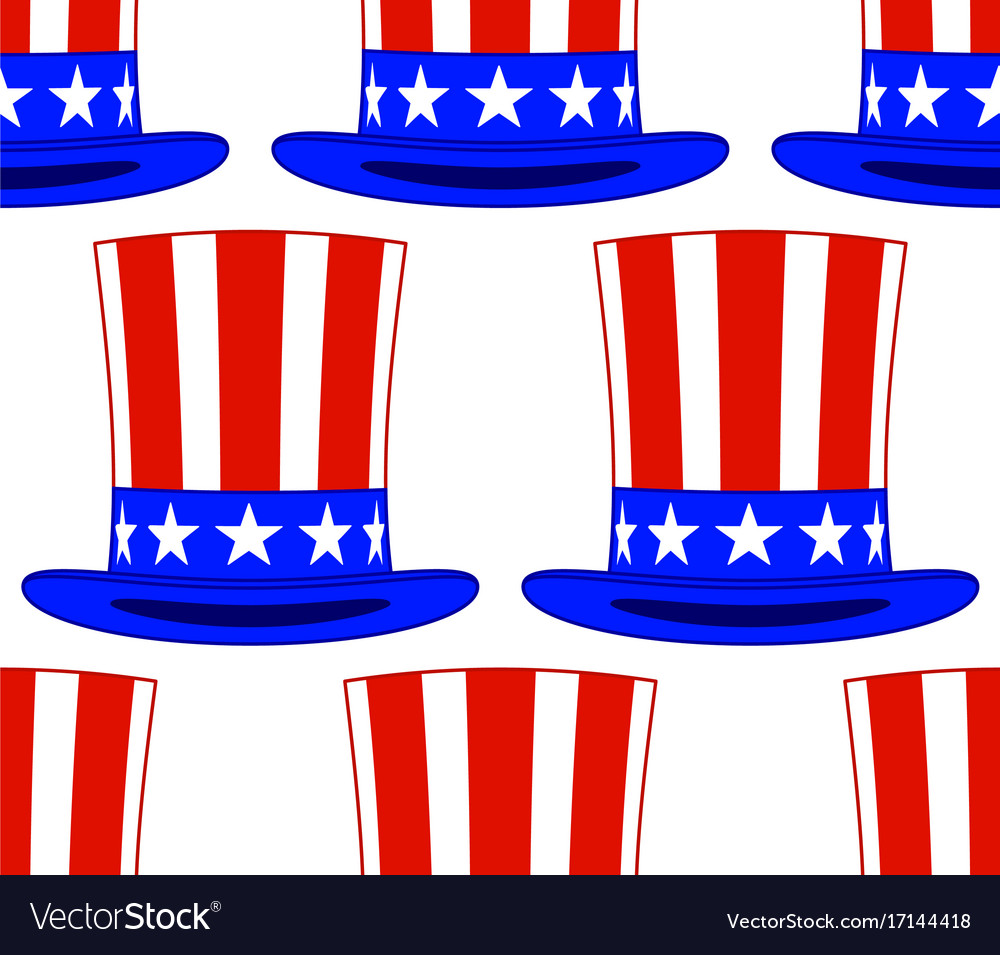 uncle sam hat pattern royalty free vector image