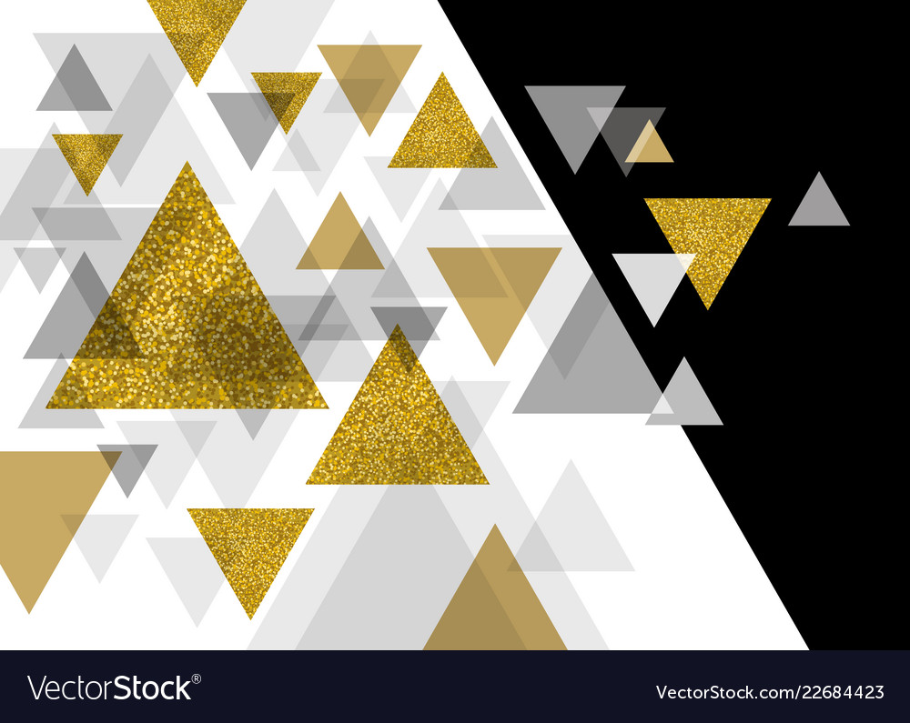 Abstract luxury background design of triangle