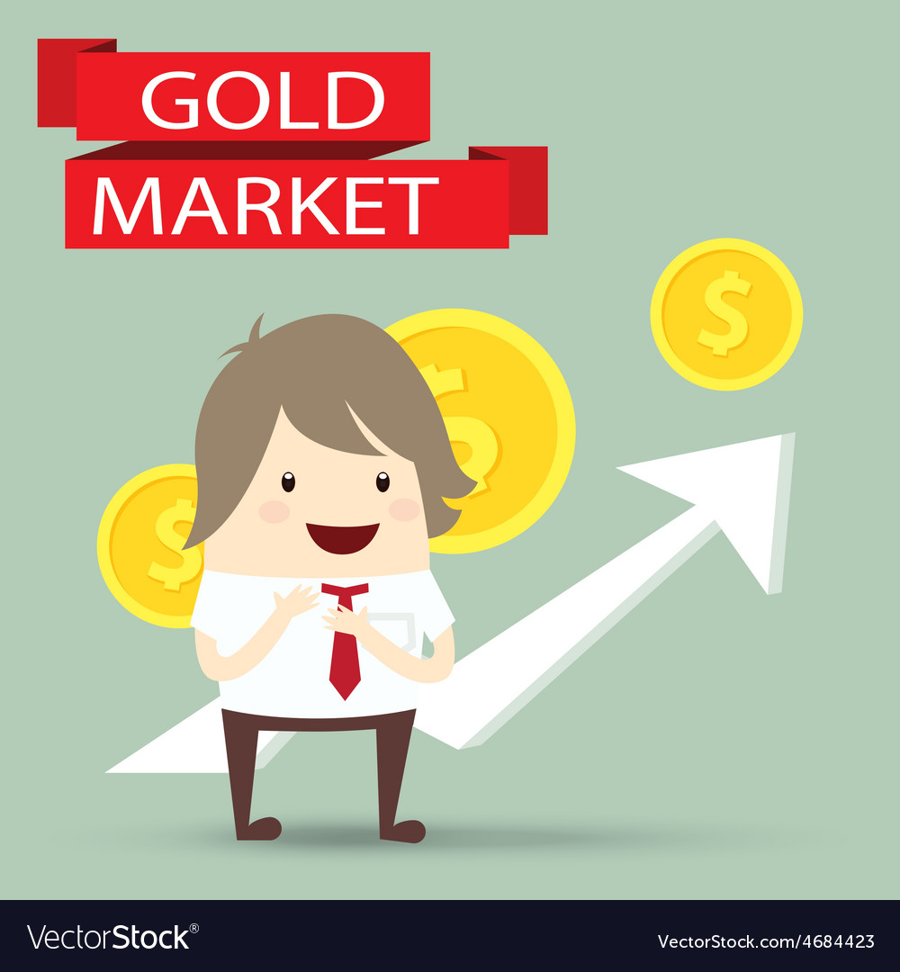 Businessman is happy strategy gold marketing
