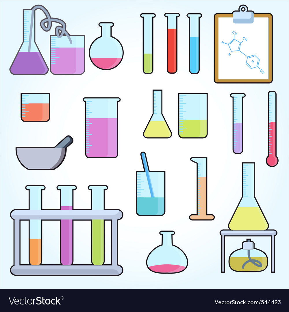 Chemical test tubes vector image