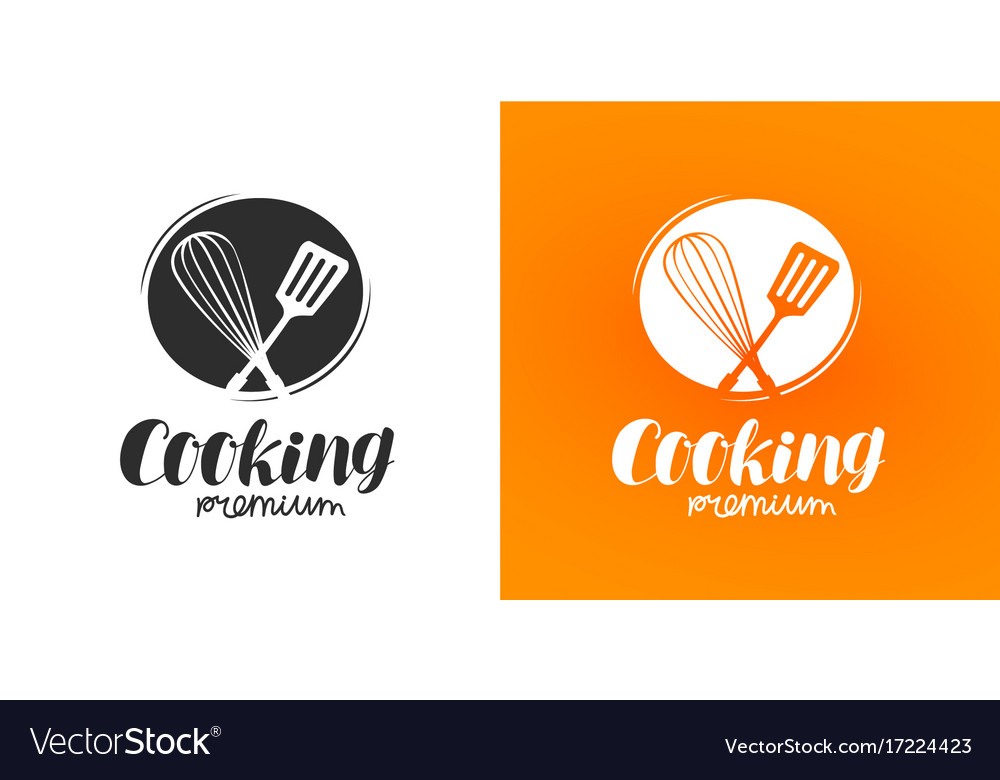 Cooking logo or label cuisine cookery icon