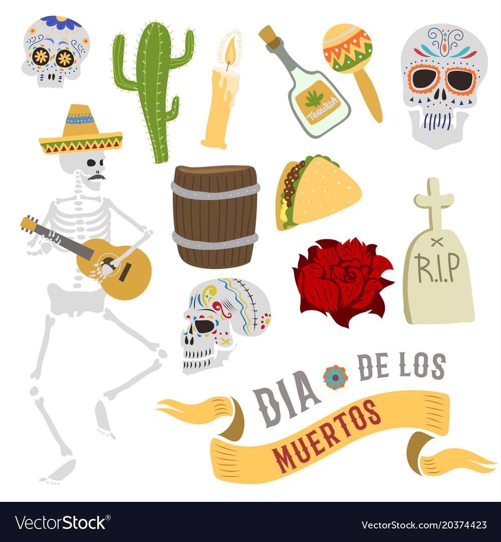 Dia de los muertos mexica dead day celebration
