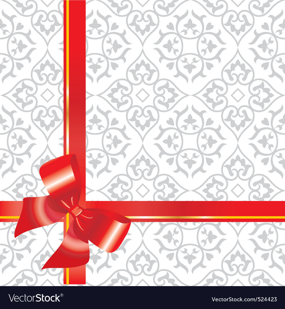 Gift background with bow and r royalty free vector image gift background with bow and r vector image negle Images
