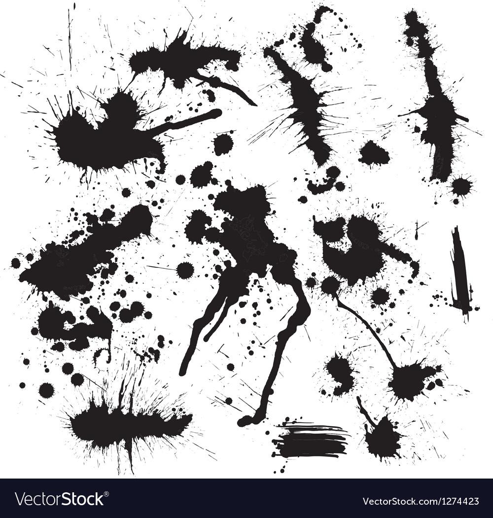 Ink spot vector image
