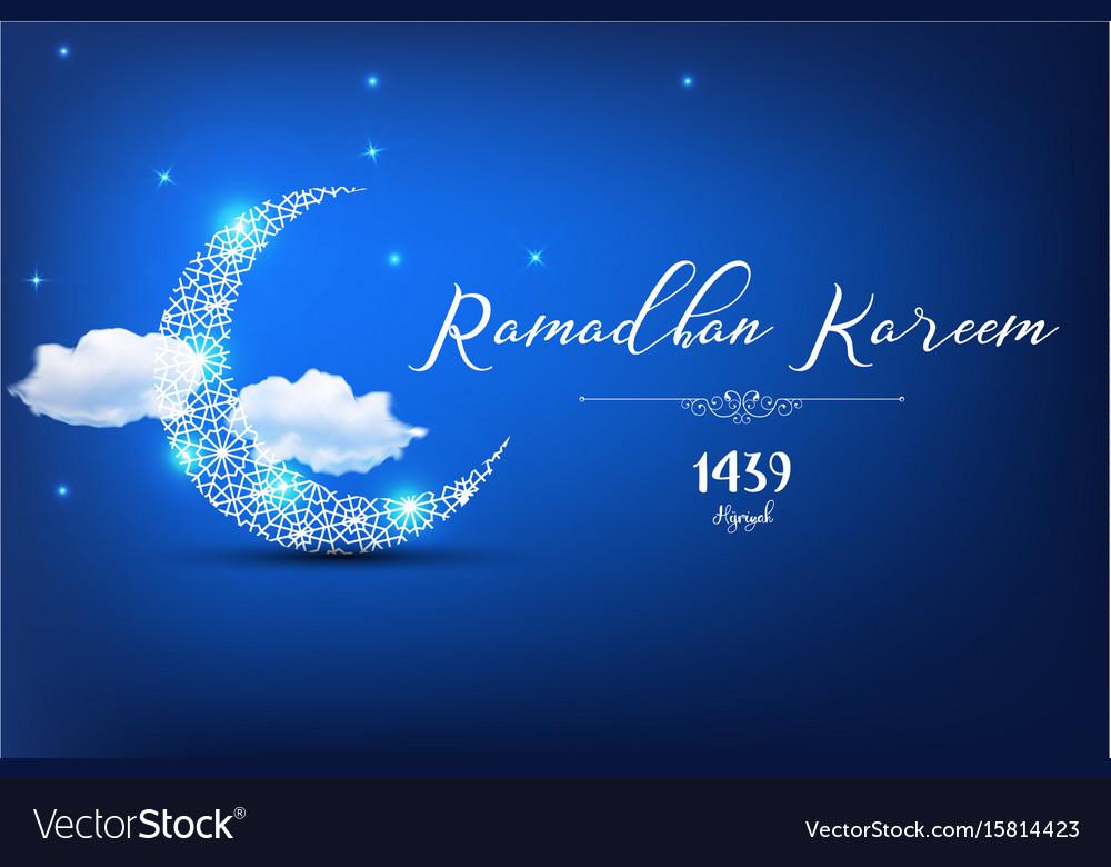 Ramadan kareem greetings card royalty free vector image ramadan kareem greetings card vector image m4hsunfo
