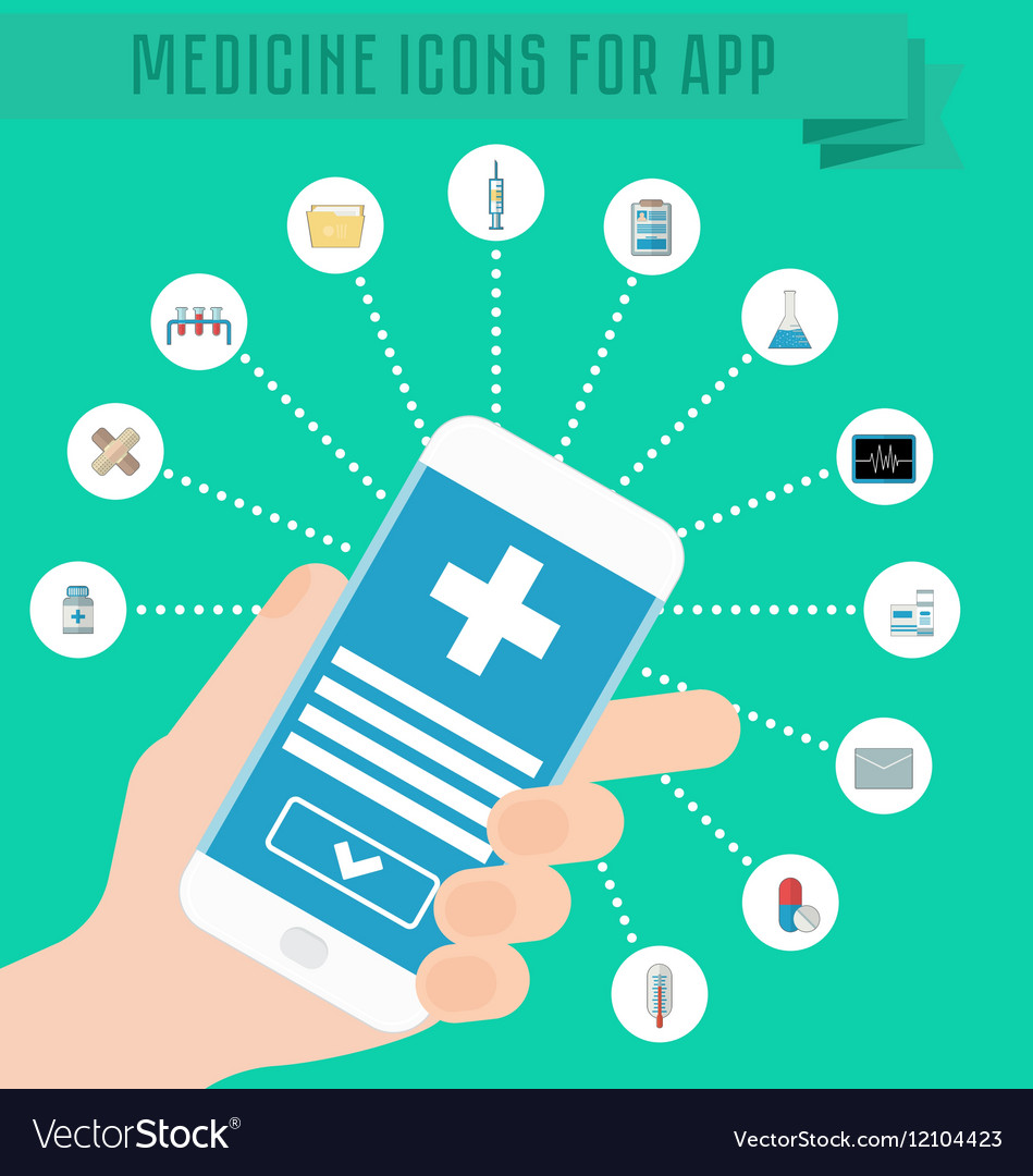 Smartphone in hand medical application on the