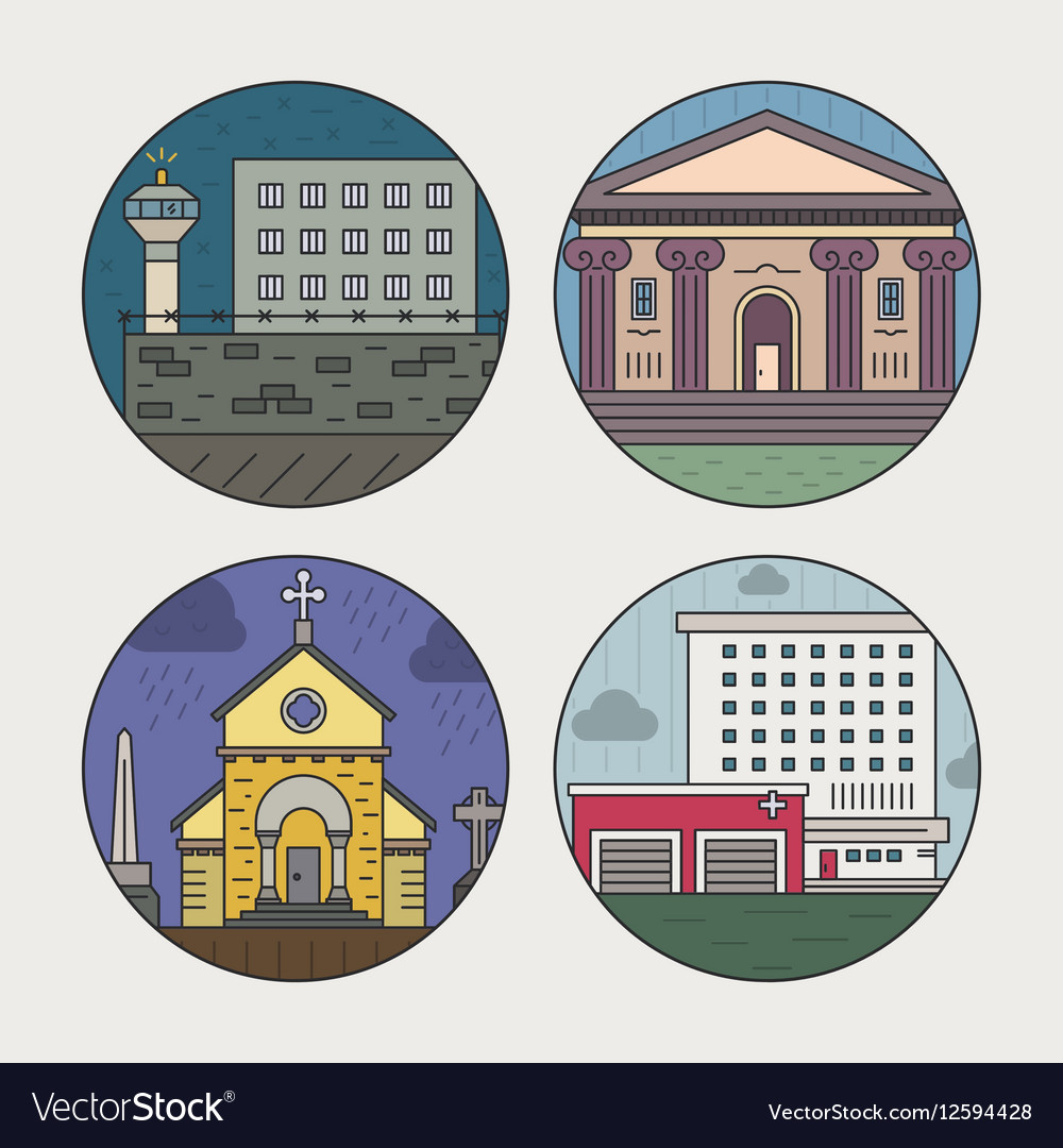 City architecture icons
