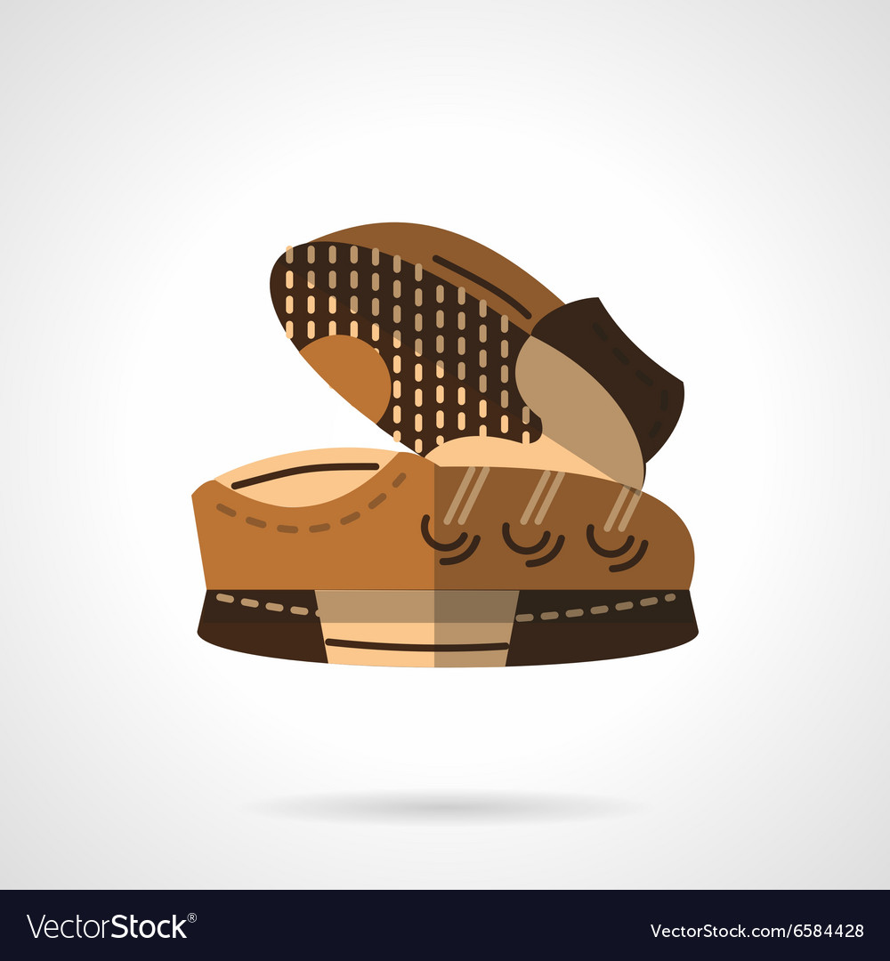 Flat color sneakers pair icon vector image