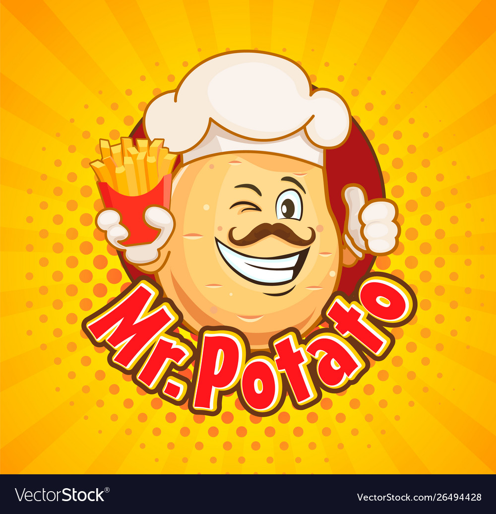 Mr potato chef with french fries