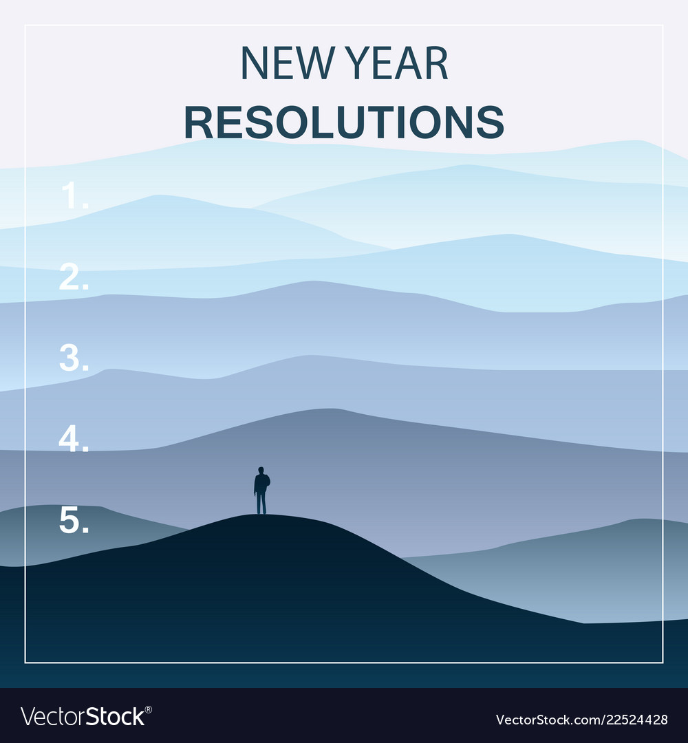 New years resolution in the new year men standing