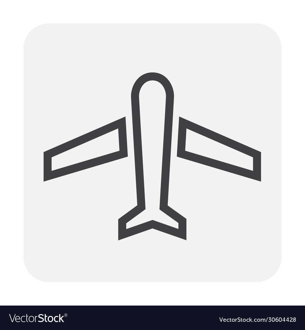 Plane icon black vector