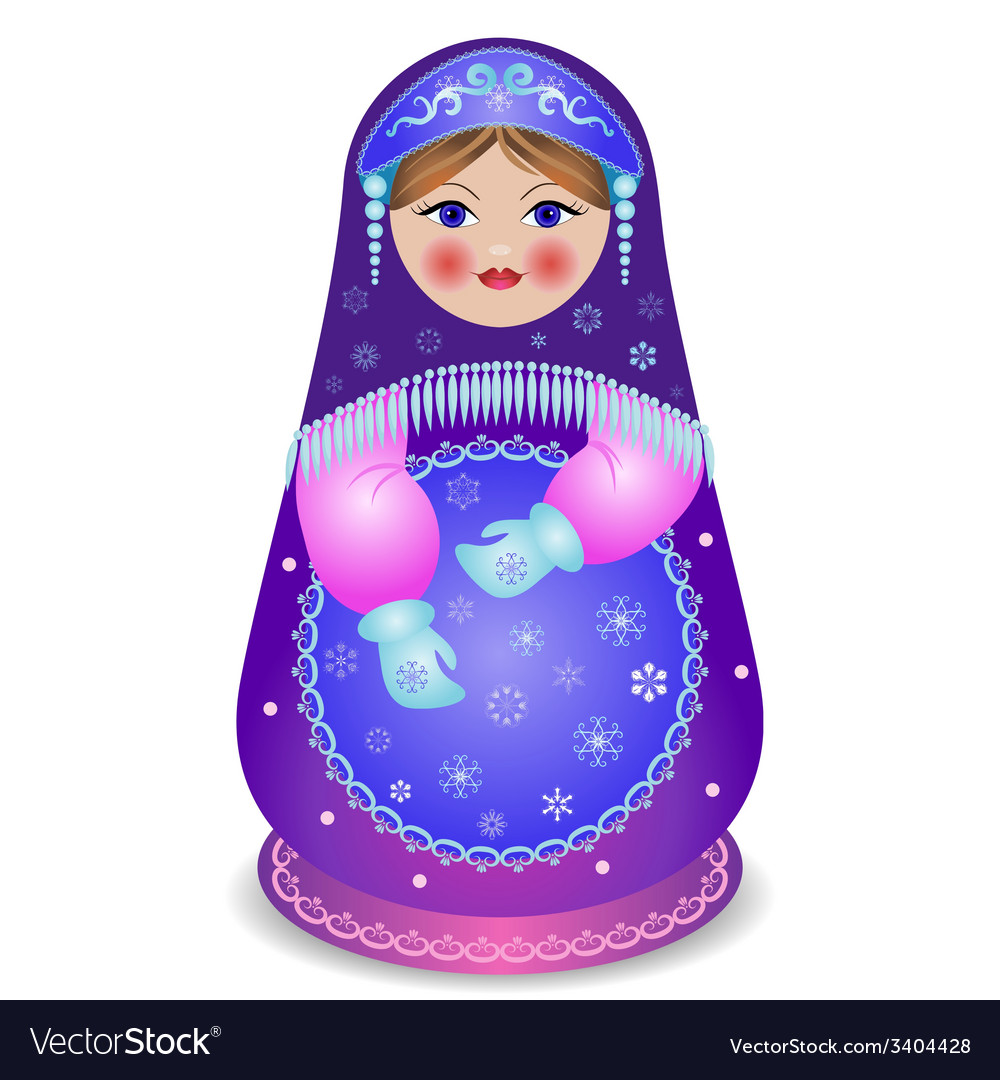 Russian traditional matryoshka folk doll
