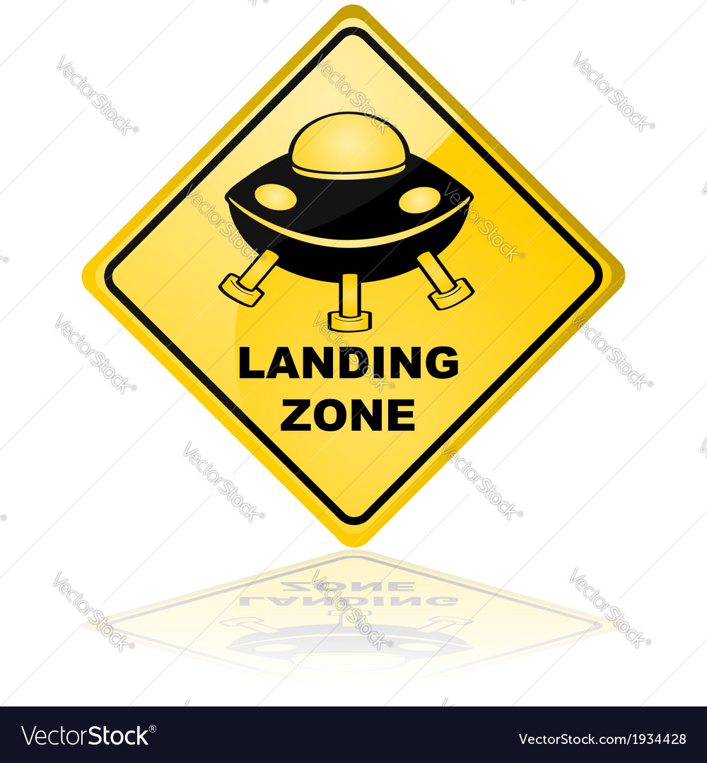 Spaceship landing zone vector image