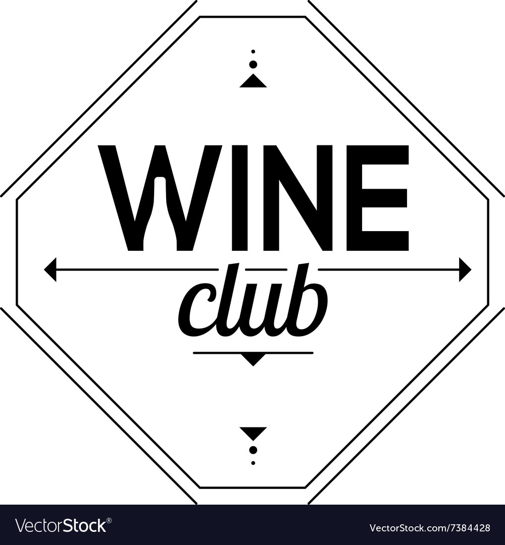 Symbol of the wine club Sign sommelier vector image