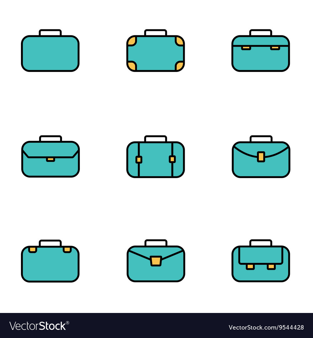 Trendy flat line icon pack for designers and