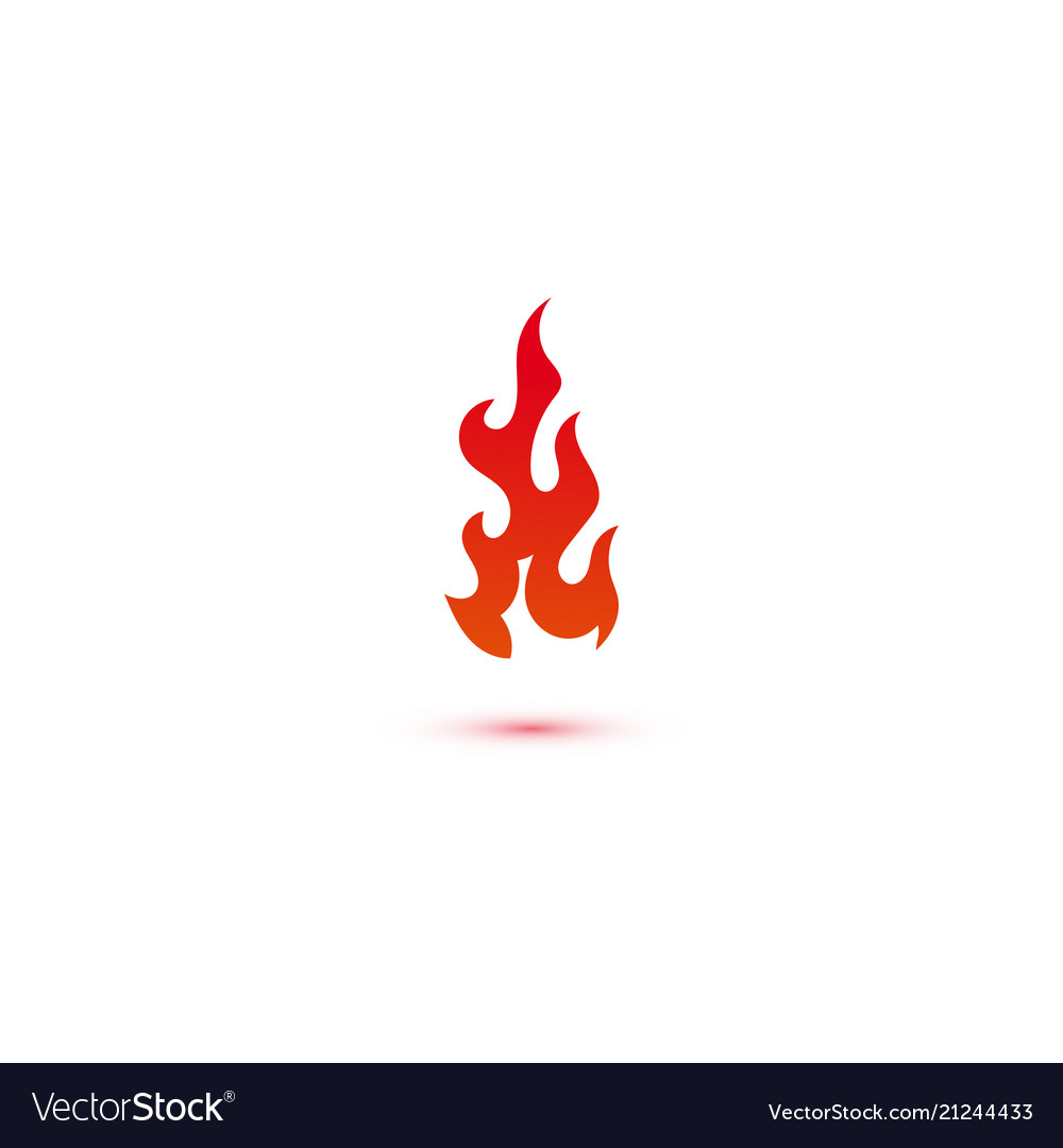 fire and flames logo graphic template royalty free vector