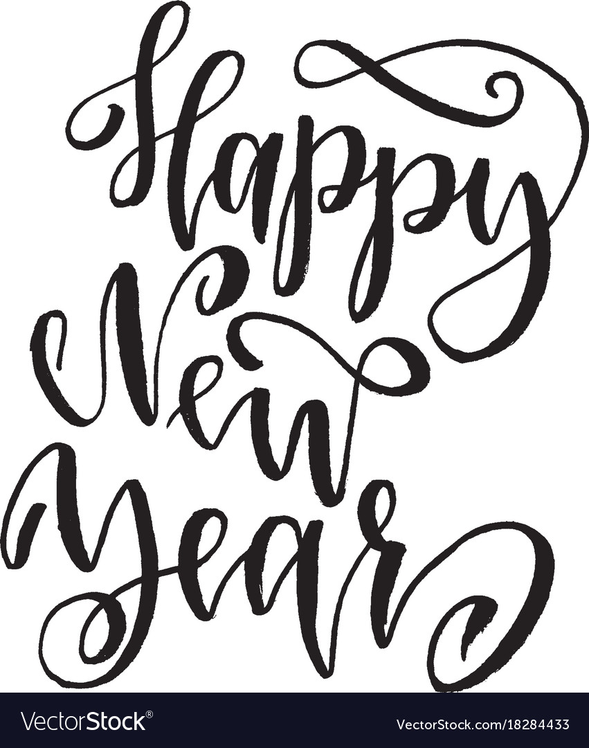 Happy new year inspirational quote about life Vector Image