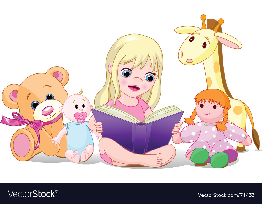 Lion Reading A Book Illustrations, Royalty-Free Vector