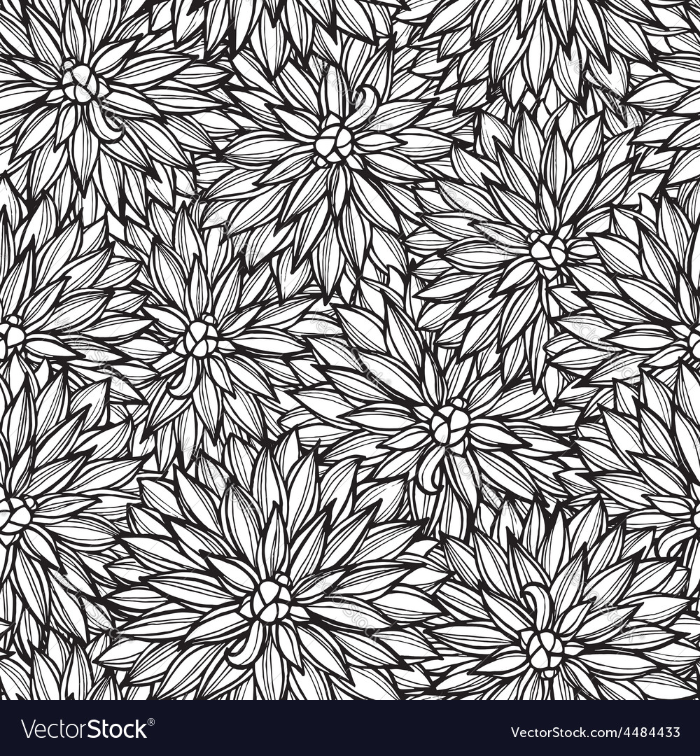 Seamless pattern with flowers Dahlia