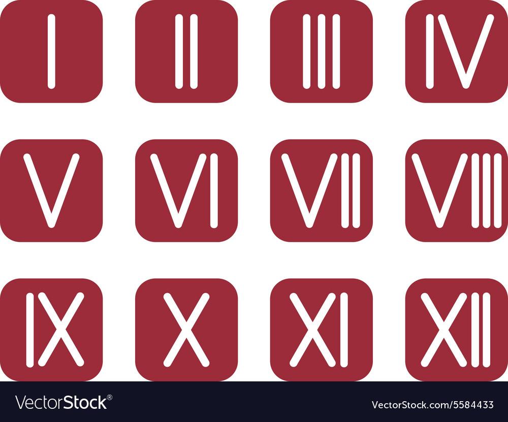 Set roman numerals 1 12 icon royalty free vector image set roman numerals 1 12 icon vector image thecheapjerseys Choice Image