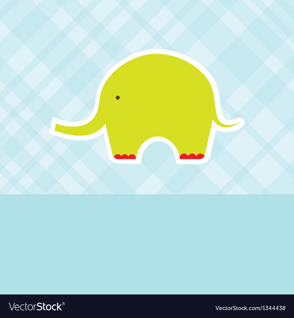 Baby boy shower card with cute elephant