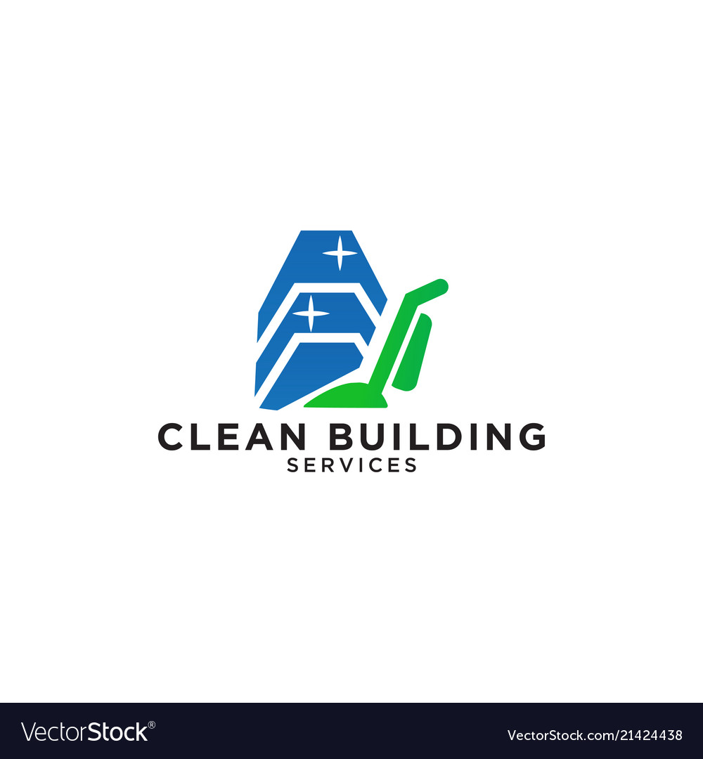 Building cleaning service logo design template