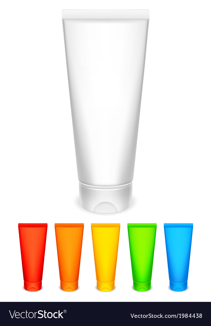 Color tubes of cream vector image
