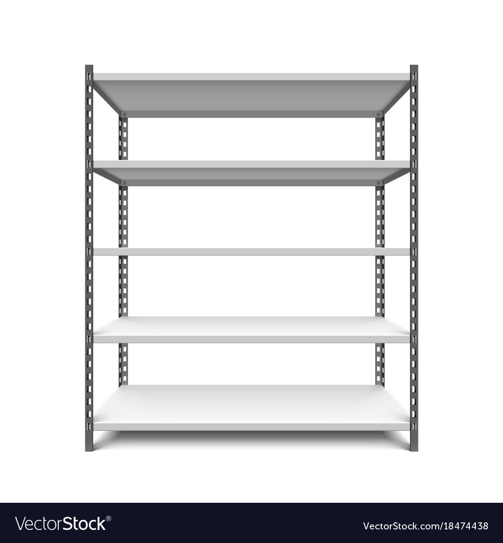 Empty storage shelf
