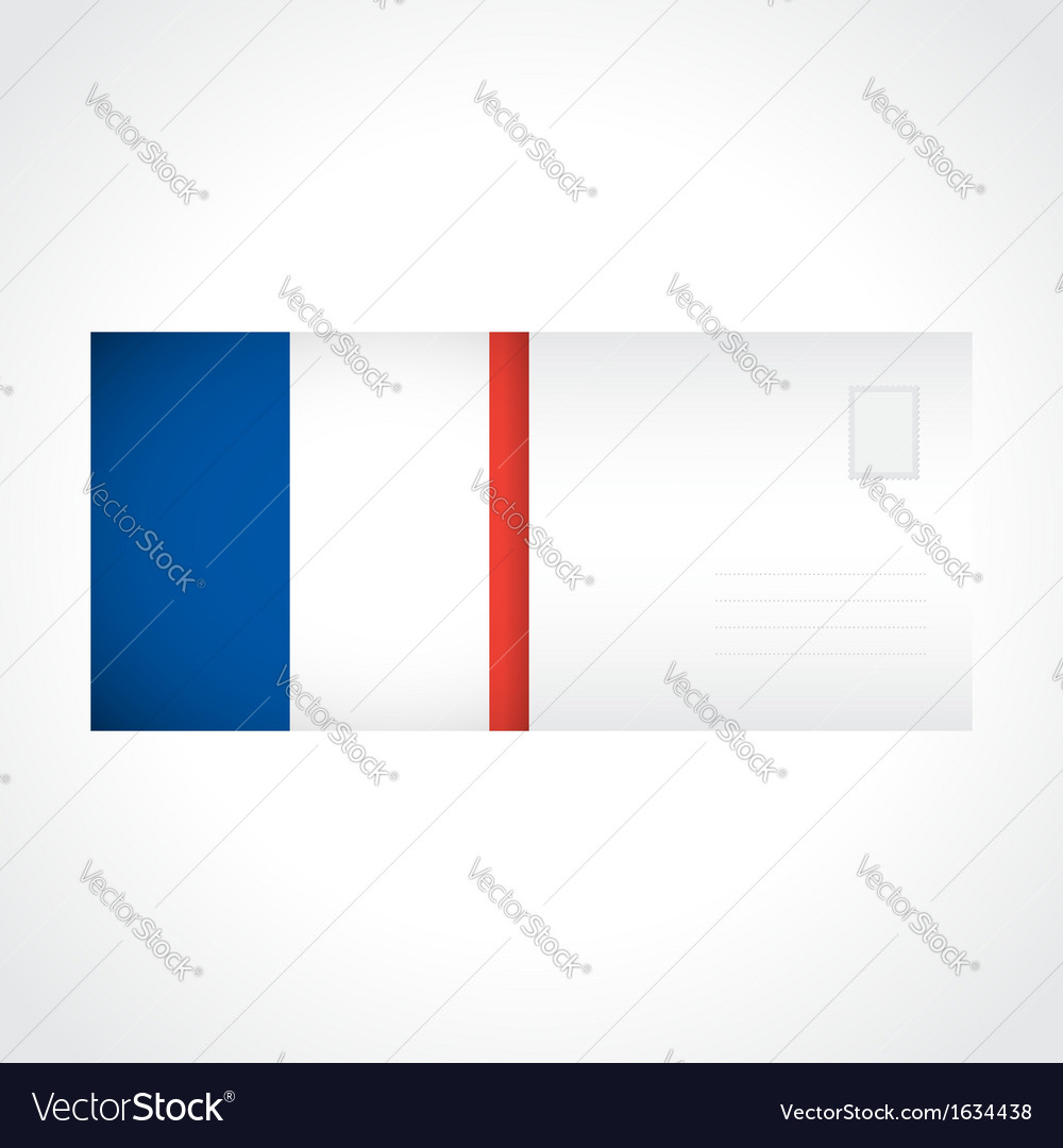 Envelope with French flag card