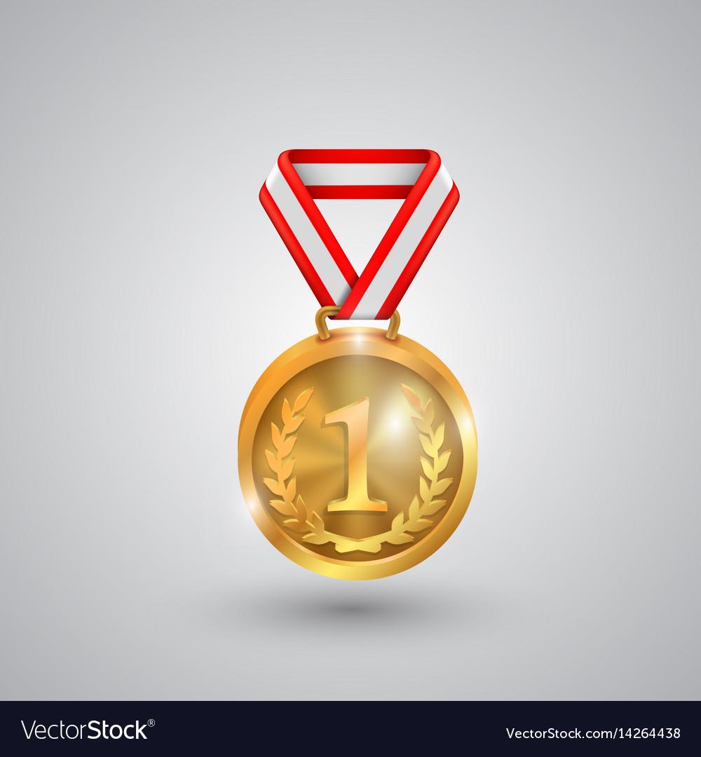 Medal holder on a white background