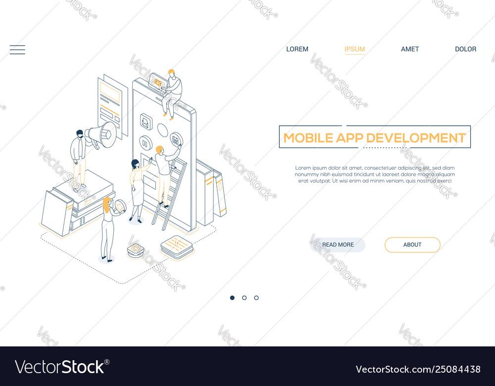 Mobile app development - line design style