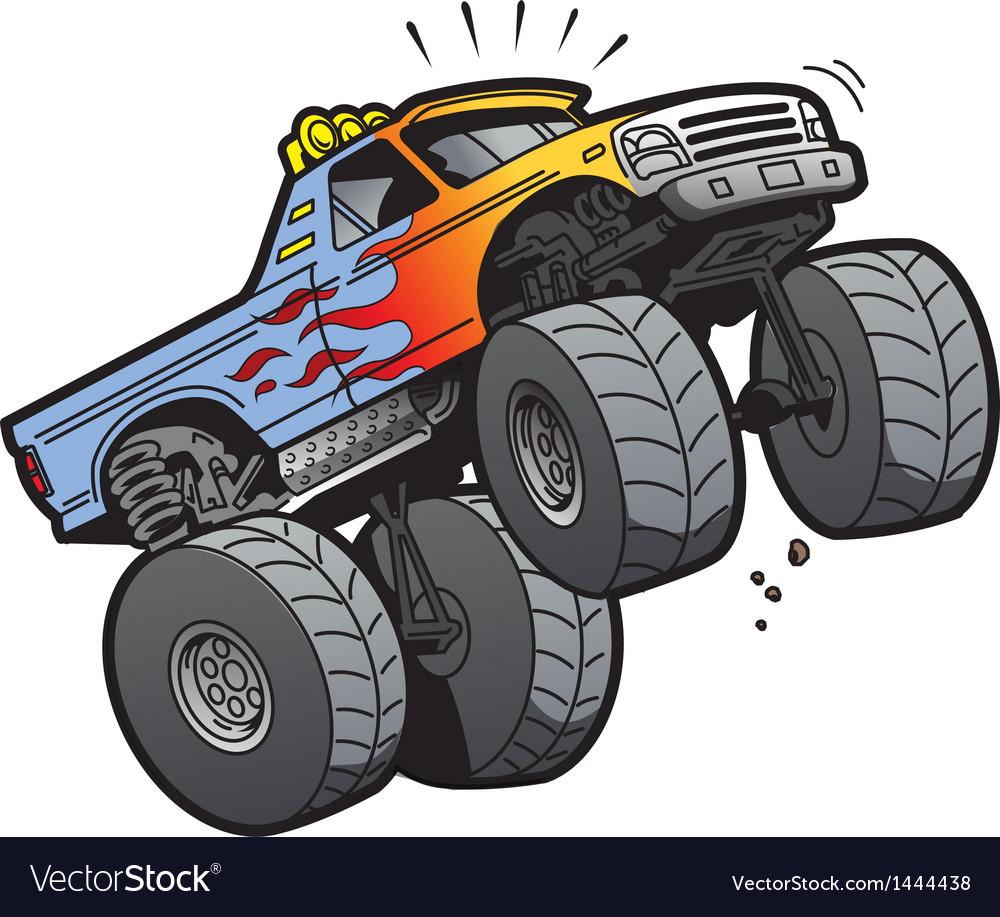 Monster Truck Jumping vector image