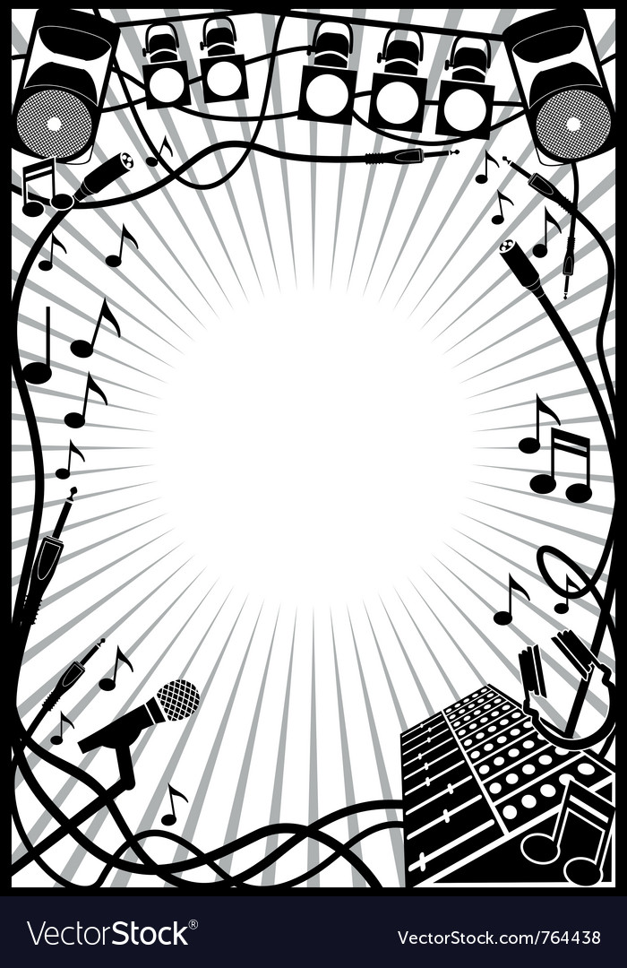 Music frame Royalty Free Vector Image - VectorStock