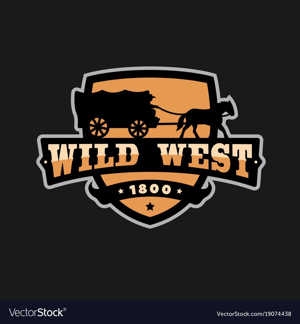 Old wild west logo of emblem