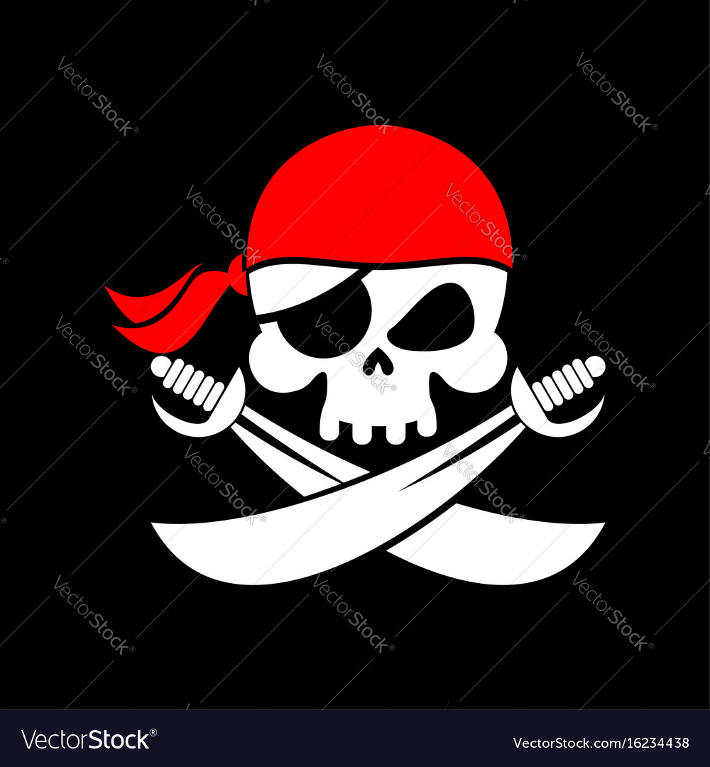 Pirate flag skull black banner filibuster head