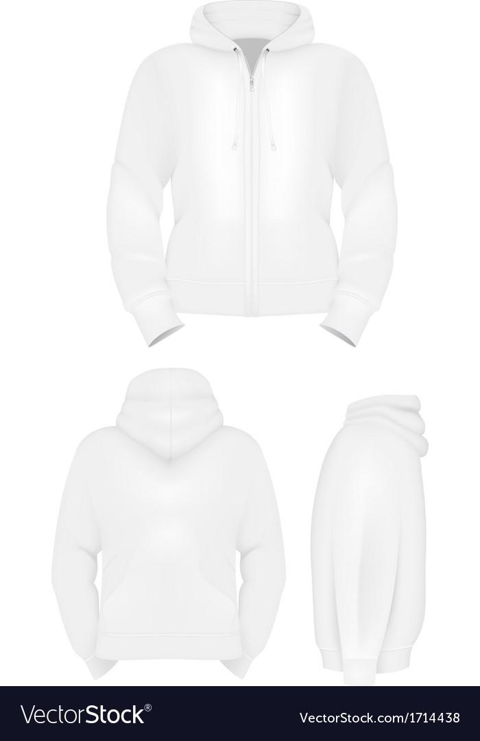 Plain training hoodie template