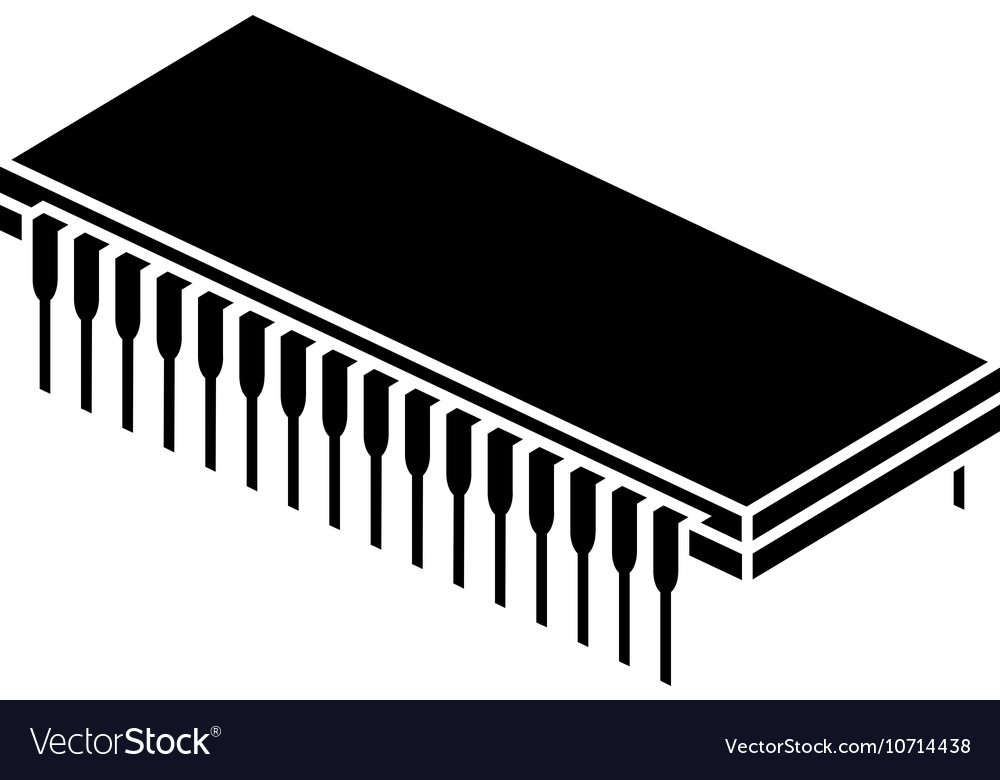 Stencil of chip vector image