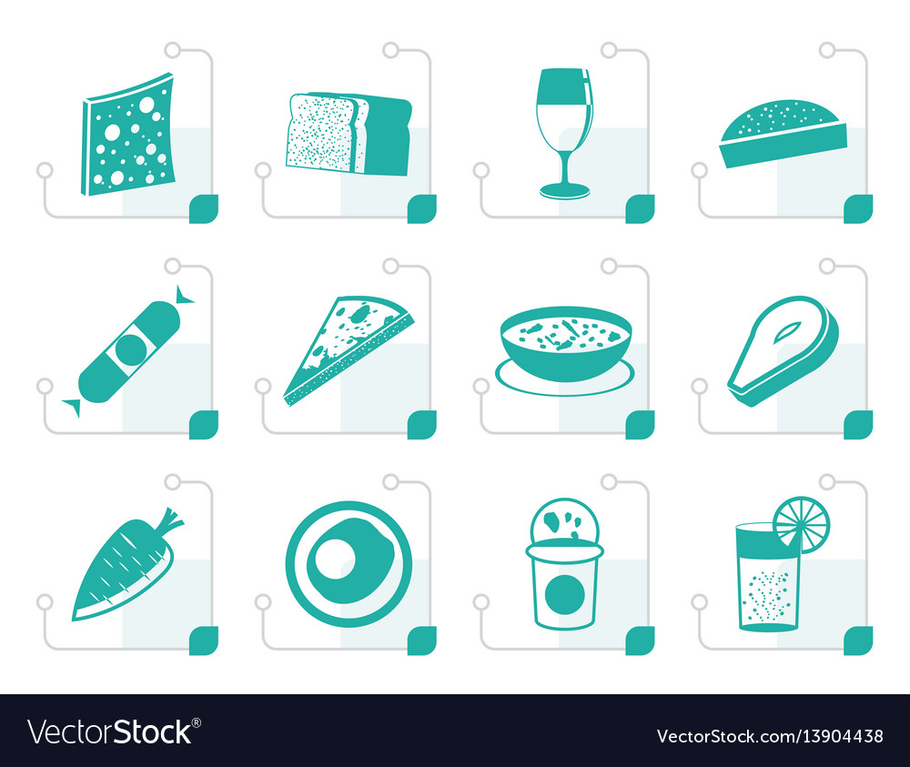 Stylized shop food and drink icons 2