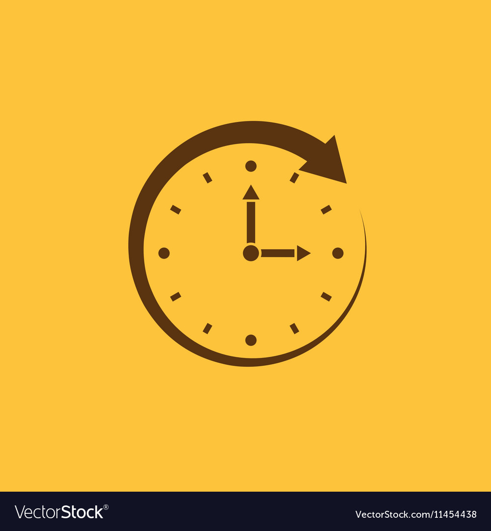 Time clock icon Time and watch timer clock vector image on VectorStock