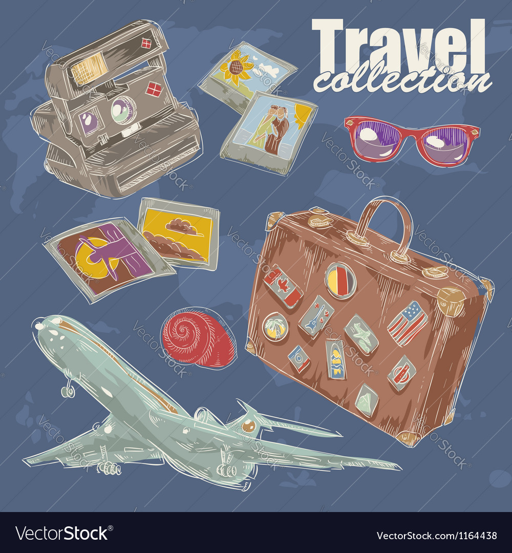 Travel objects collection