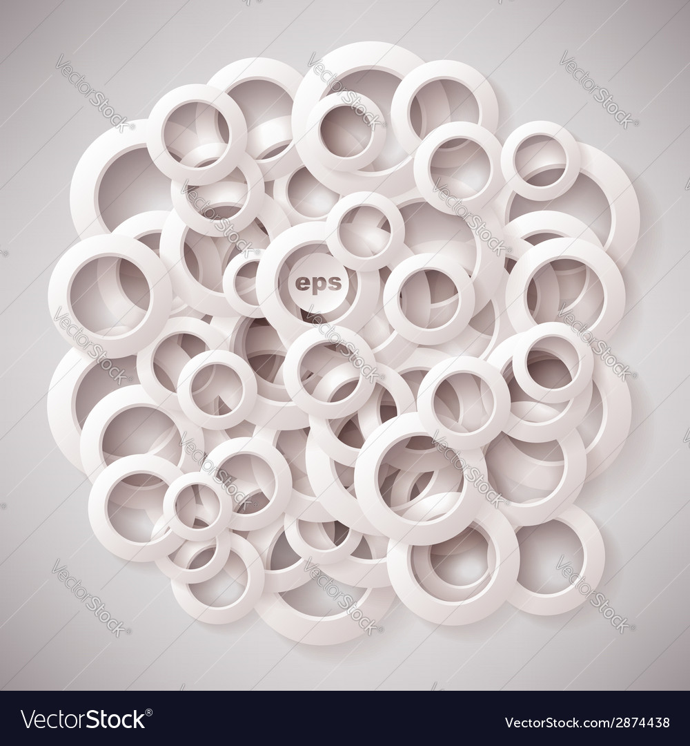 White paper rings background
