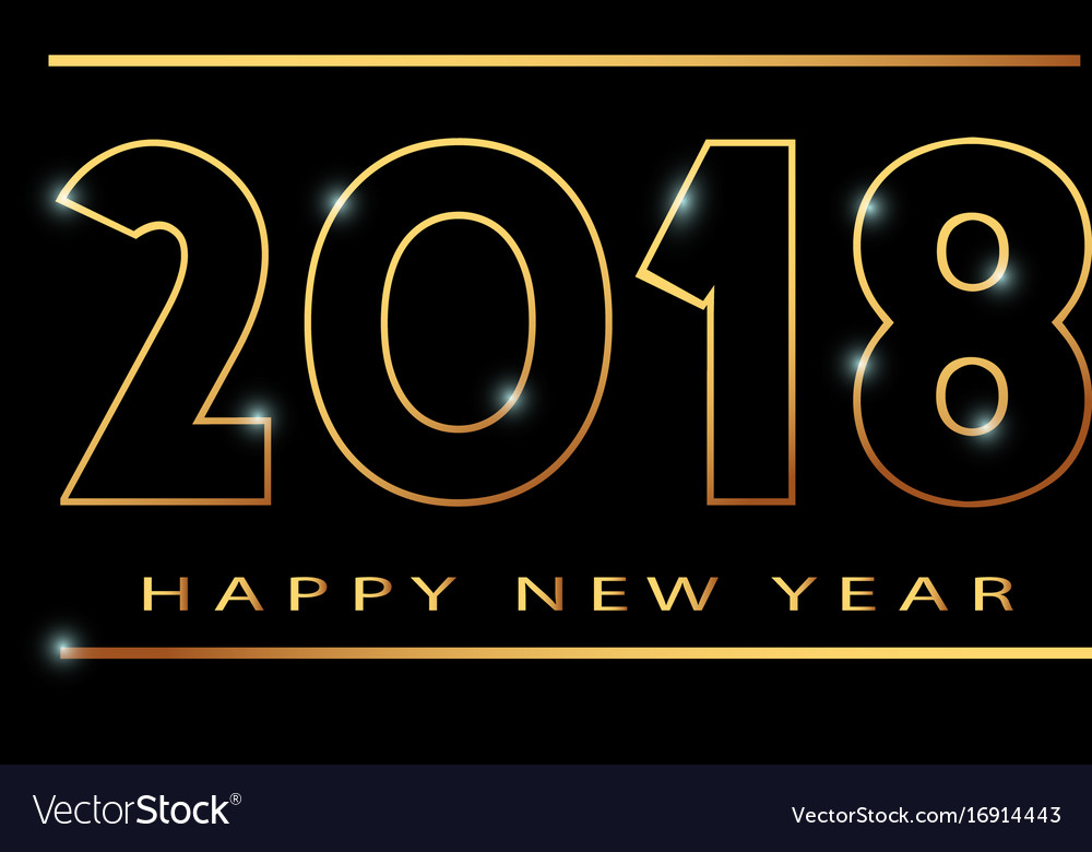 2018 happy new year banner khokhloma vector image