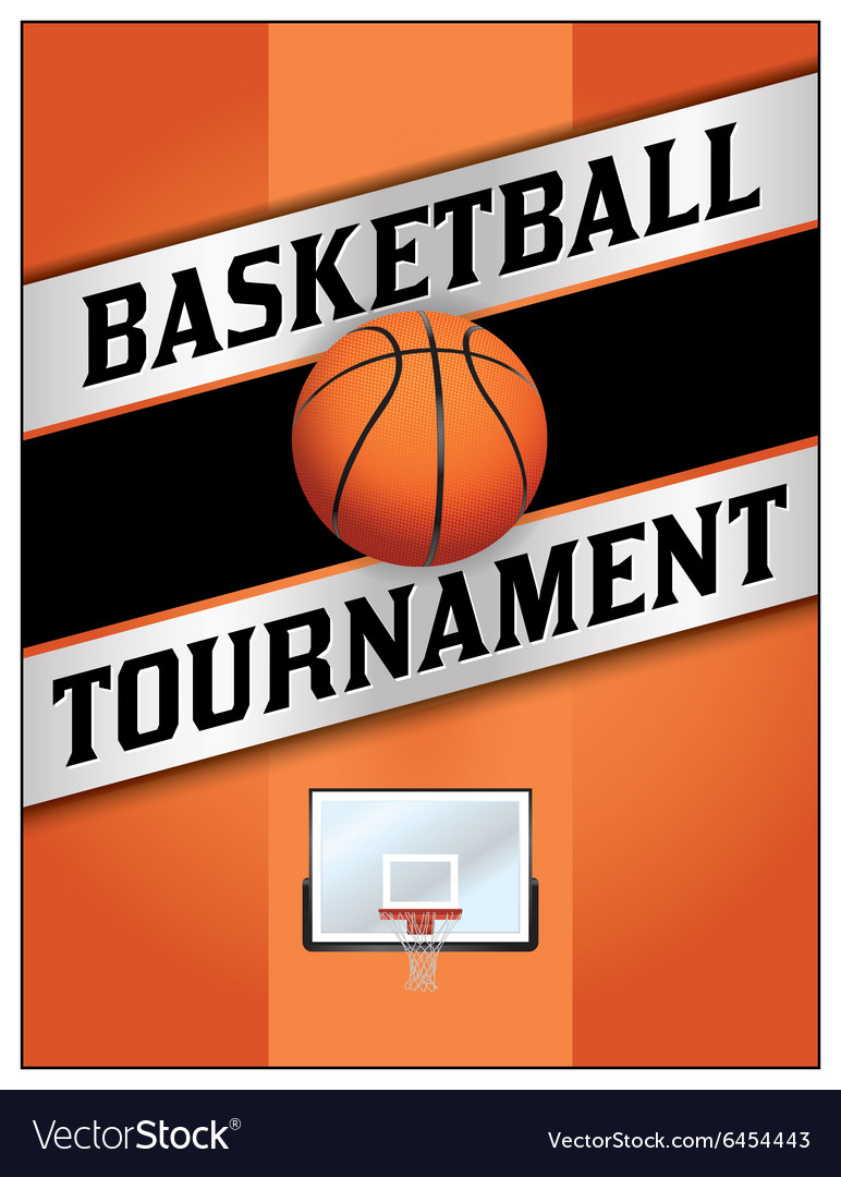 basketball tournament flyer poster royalty free vector image