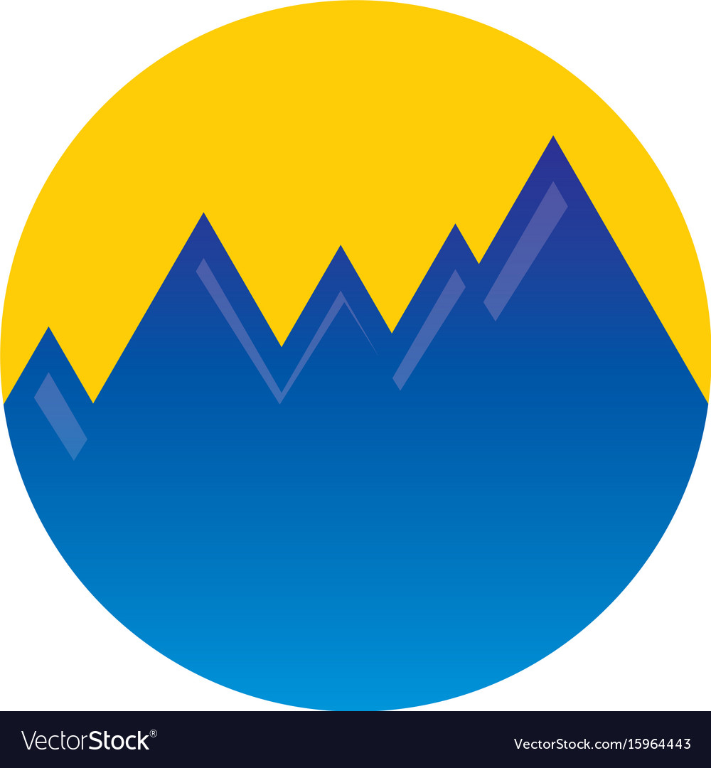 Circle mountain hiking logo