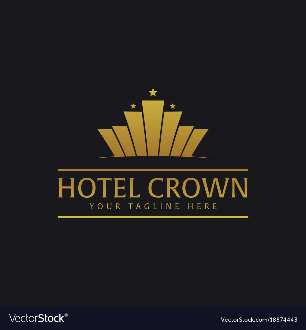 Crown Hotel Logo And Emblem Logo Royalty Free Vector Image