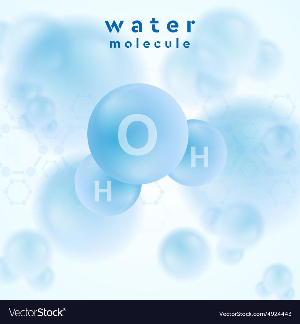 H2o water blue molecule abstract design vector image