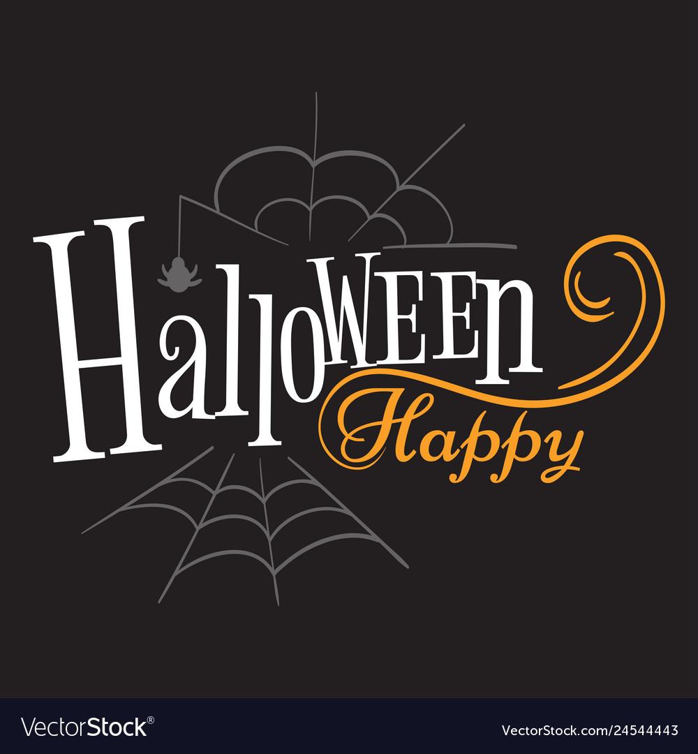 Happy halloween logo sign