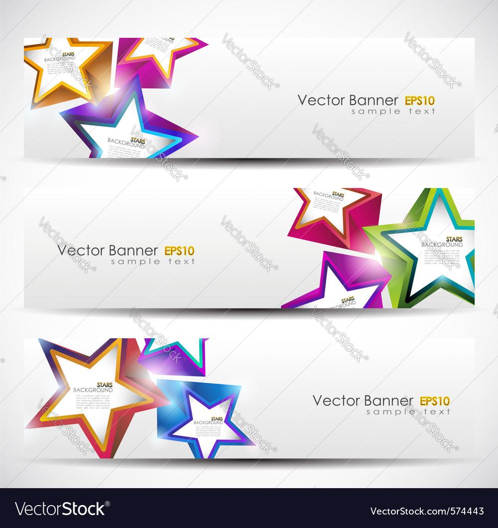 Stars banner set vector image